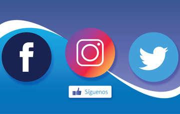 logo de facebook, logo de instagram, logo de twitter.