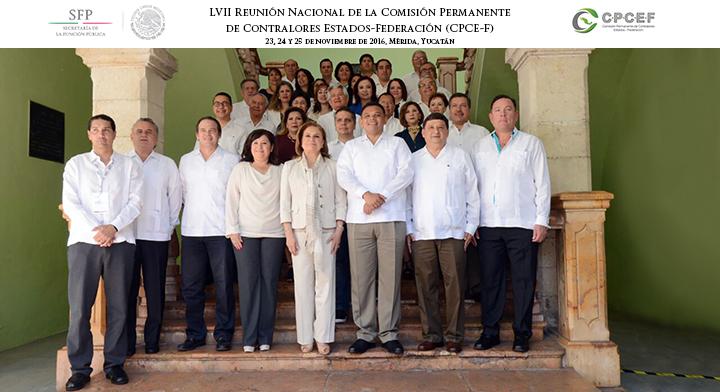 Foto Oficial LVII Reunión Nacional de la Comisión Permanente de Contralores Estados-Federación (CPCE-F)