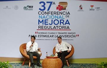 Subsecretario Eber Omar Betanzos Torres en la 37a Conferencia Nacional de Mejora Regulatoria