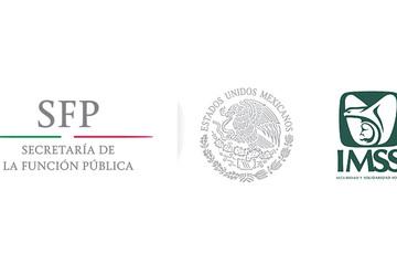 Logo SFP a la izquierda y logo del IMSS a la derecha