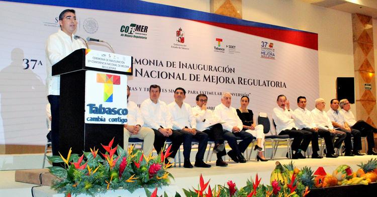 Se realizó la 37ª Conferencia Nacional de Mejora Regulatoria en Villahermosa, Tabasco