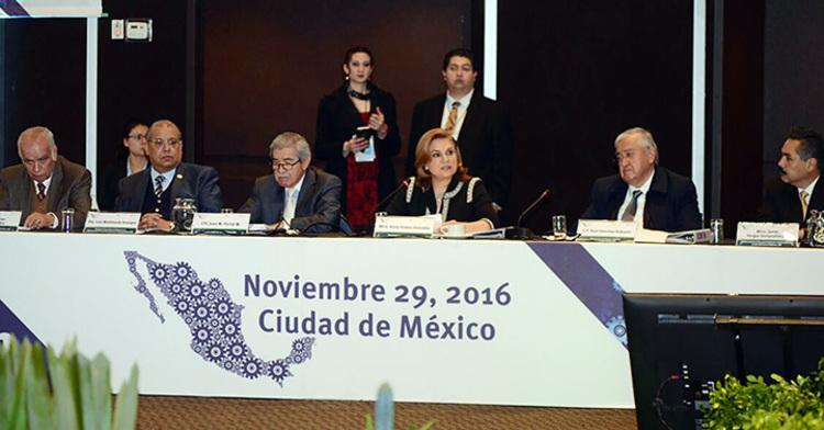 Secretaria Arely Gómez en su participación en la VII Reunión Plenaria del Sistema Nacional de Fiscalización