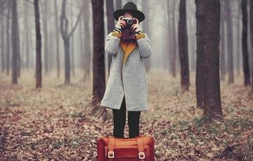 Chica viajera.