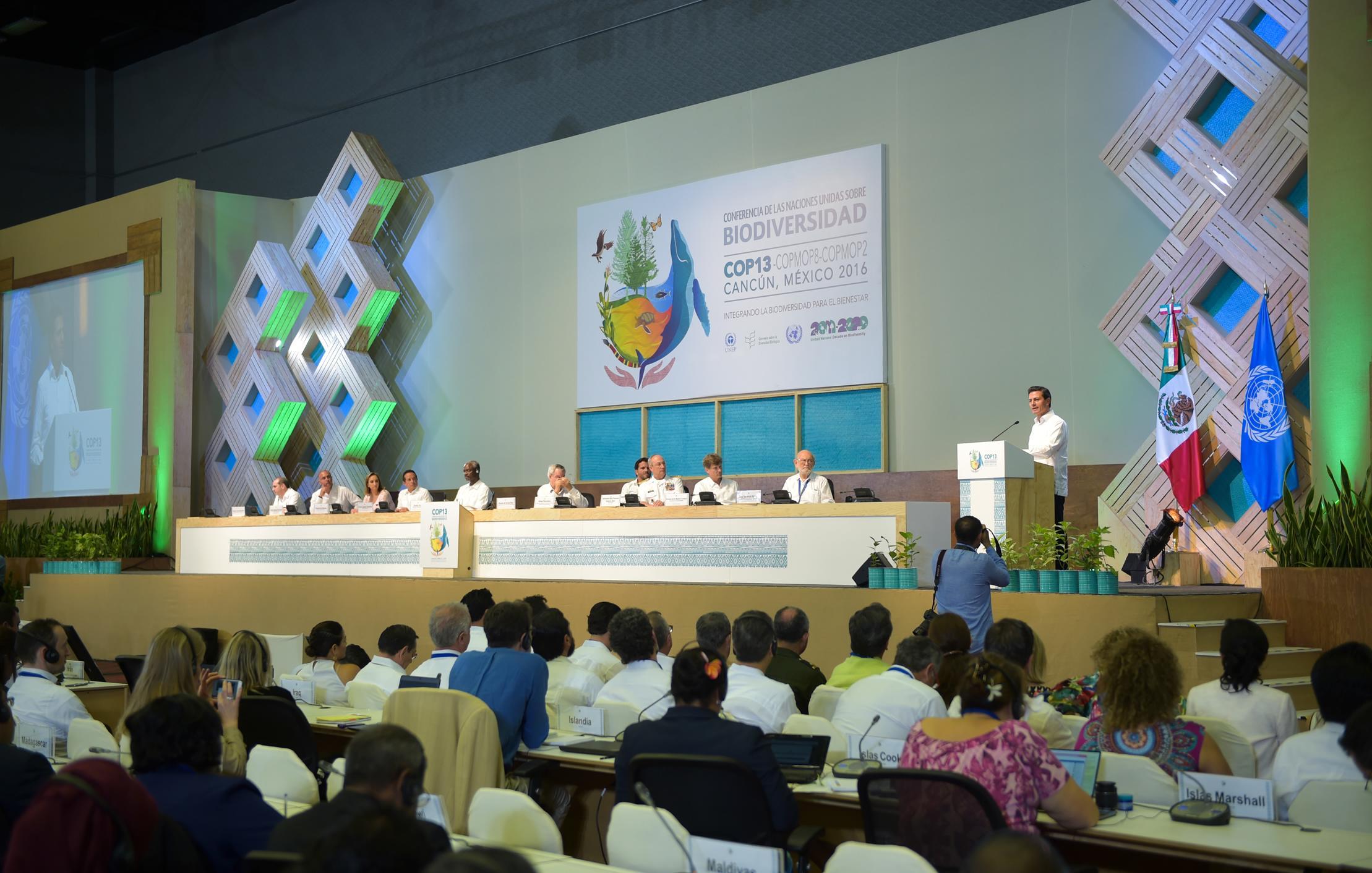 """""""La COP13 tiene en sus manos la oportunidad de cambiar la visión tradicional con la que conservamos y preservamos nuestra riqueza biológica"""": EPN"""