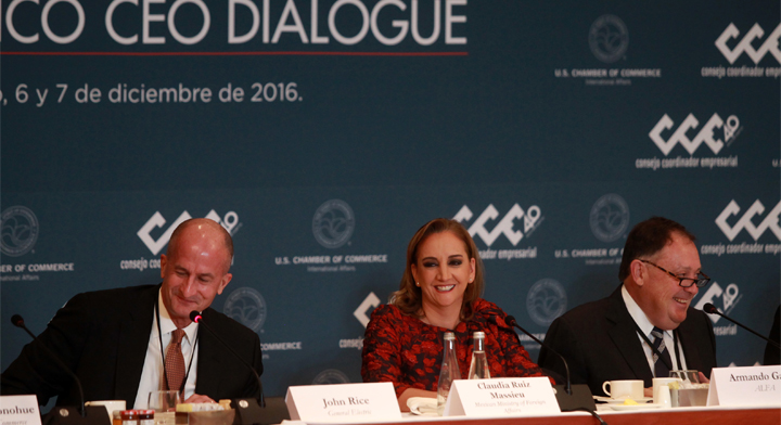 La Canciller Ruiz Massieu en el panel del U.S. - Mexico CEO Dialogue