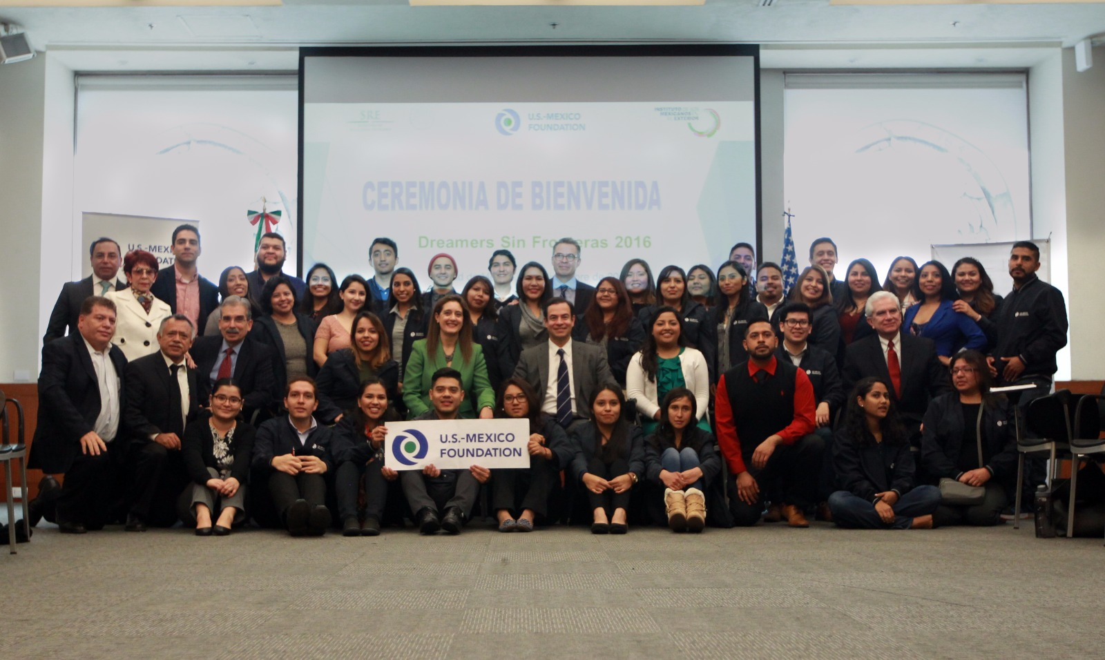 Delegación 2015 de jóvenes DREAMERS.