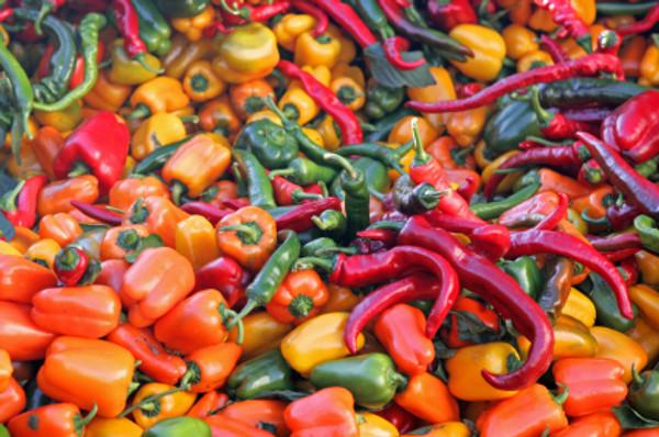 Chiles de diversas variedades