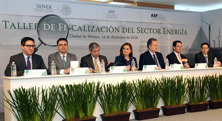 Secretaría Arely Gómez en la inauguración del Taller de Fiscalización del Sector Energía