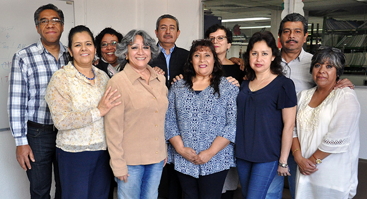 Aparece Hortencia Barrios Hernández, Responsable del Área de Información Agraria del RAN, el Director General de Operación y Sistemas del RAN, José Luis Berrospe Martínez y 8 colaboradores del equipo.