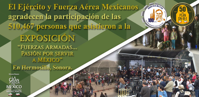"""Exposición """"Fuerzas Armadas... Pasión por Servir a México""""."""
