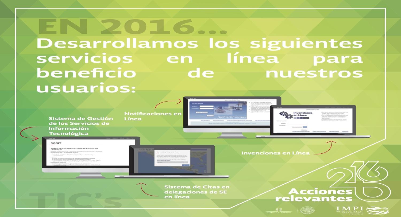 Selección de vínculos relacionados a servicios electrónicos que proporciona el IMPI.
