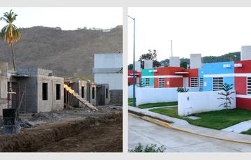 Viviendas de la colonia Plácido Domingo, Acapulco, Guerrero. Ejemplo de ciudad resiliente.