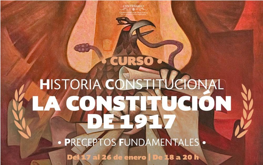 Cartel curso sobre la Constitución de 1917