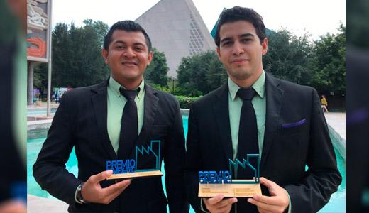 Estudiantes del Tec Villahermosa galardonados en el premio Cemex-Tec 2016.