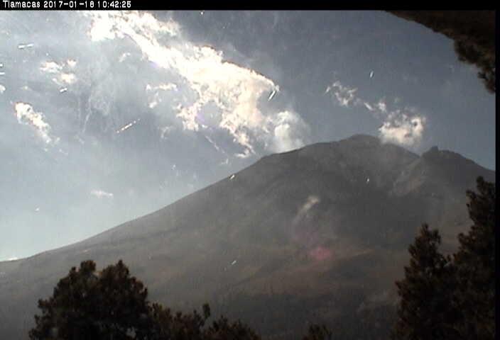En las últimas 24 horas, por medio de los sistemas de monitoreo del volcán Popocatépetl, se identificaron 29 exhalaciones de baja intensidad, acompañadas por vapor de agua y gas.