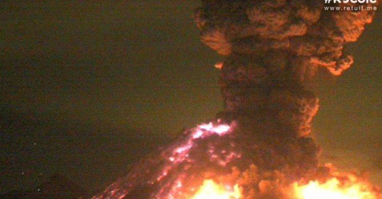 Imagen del Volcán de Colima