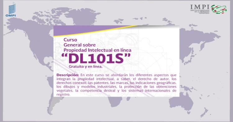 """Cursos General sobre Propiedad Intelectual en línea """"DL 101S"""""""