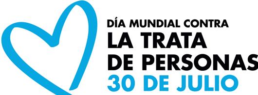 Imagen de la campaña Corazón Azul que promueve Naciones Unidas para sensibilizar sobre la lucha contra la trata de personas y su impacto en la sociedad.