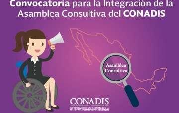 Convoca Conadis a integrar asamblea consultiva