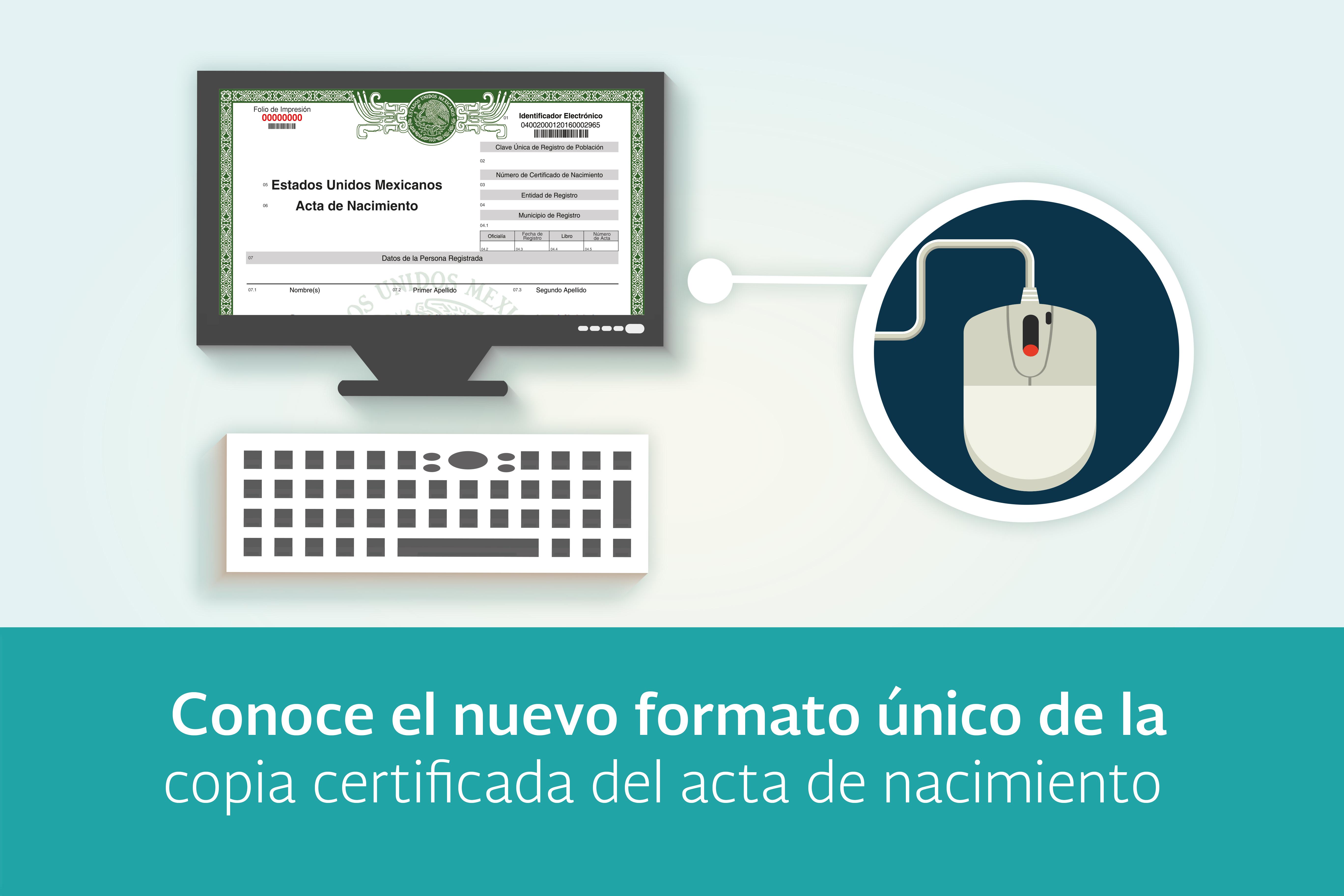 Conoce el nuevo formato único de la copia certificada del acta de ...