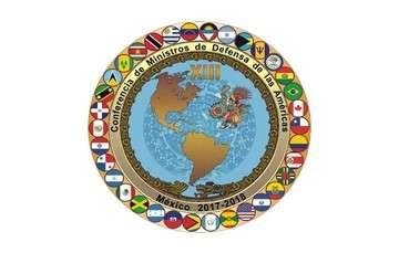 Mapa del Continente Americano y sus banderas.