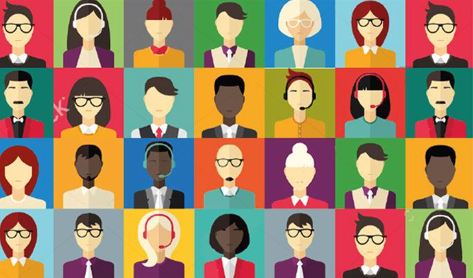 Ilustración con diversidad de rostros mexicanos