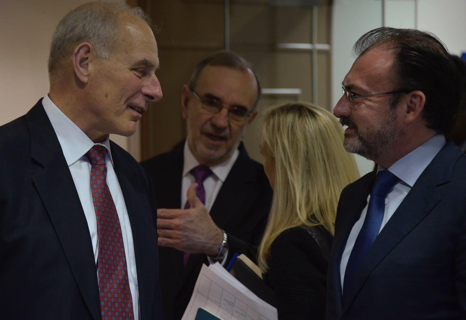 El Canciller Luis Videgaray se reunió con el Secretario de Seguridad Interna de Estados Unidos, John Kelly.