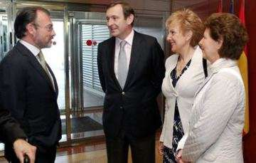 Foreign Secretary Luis Videgaray arrives in Madrid