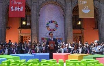 """""""La Agenda 2030, que hoy renovamos, es el compromiso por un desarrollo sostenible en el que nadie debe quedarse atrás"""": EPN"""