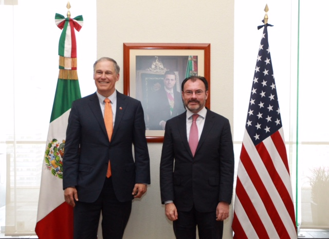 Acuerdan el Canciller Videgaray y el Gobernador de Washington fortalecimiento de cooperación