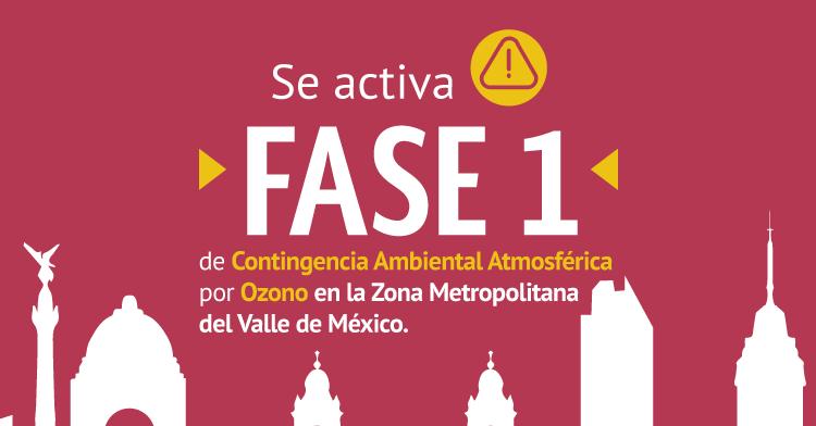 Se ACTIVA Fase 1 de contingencia ambiental atmosférica por ozono en la Zona Metropolitana del Valle de México