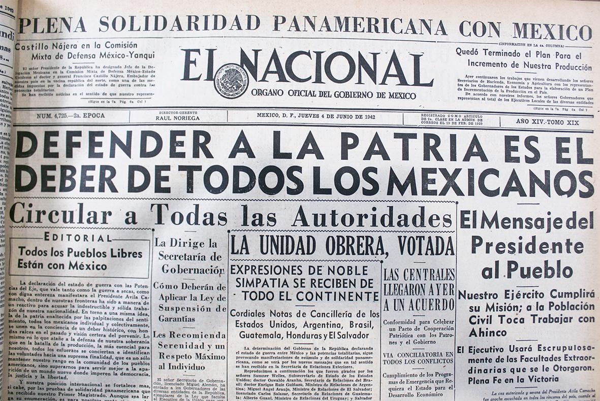 Agnrecuerda El Dia Que Mexico Le Declaro La Guerra A Alemania Archivo General De La Nacion Gobierno Gob Mx