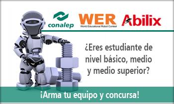 "Convocatoria: Torneo de Robótica ""WER México 2017 ""La era industrial""."