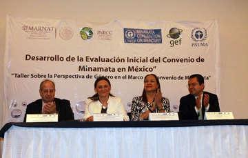 Dra. Amparo Martínez - INECC, Dr. Víctor Hugo Páramo - INECC, Mtra. Dolores Barrientos - UNEP
