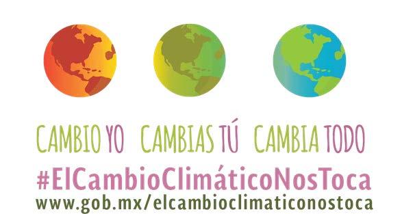 Lema del el cambio climático nos toca; cambio yo, cambias tú, cambia todo