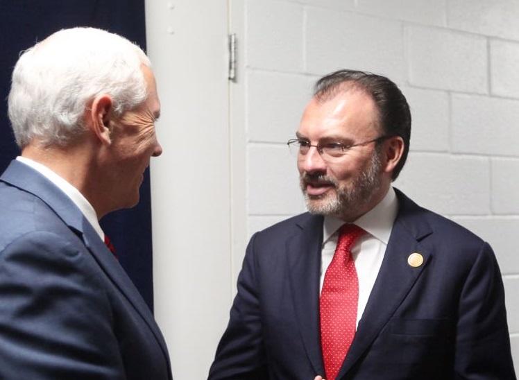 Reunión del Canciller Luis Videgaray con el Vicepresidente de los Estados Unidos de América, Mike Pence
