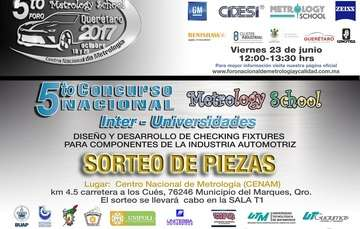 5º  Concurso Nacional Inter-Universidades. Diseño y desarrollo de Checking fixtures