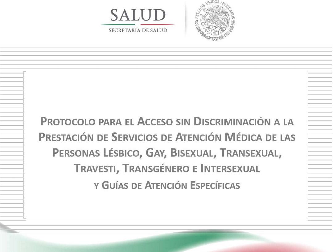 El protocolo publicado por la Secretaría de Salud establece mecanismos para atender sin discriminación.