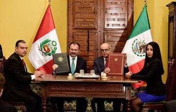 México y Perú refuerzan e impulsan su relación estratégica