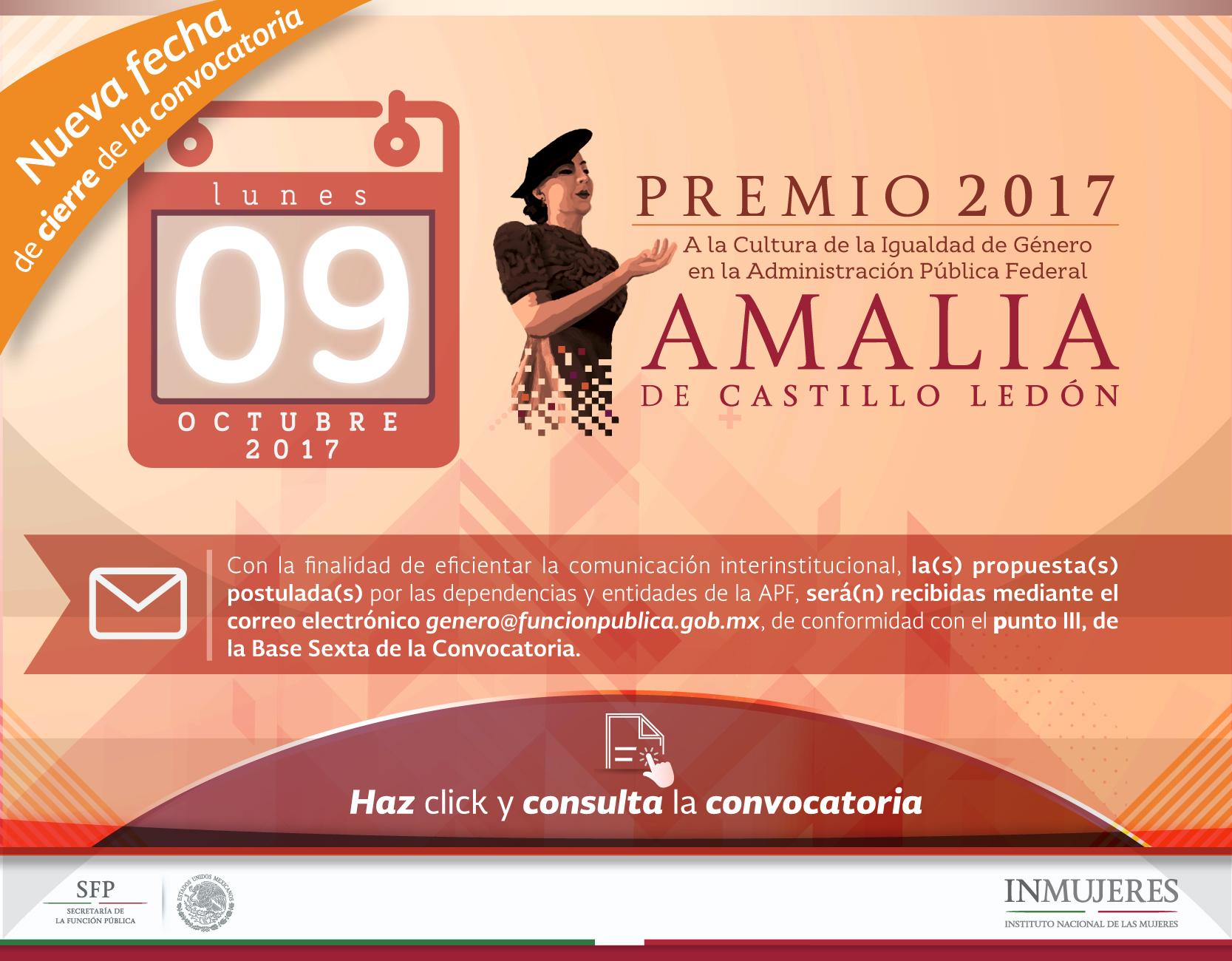 """Premio a la Cultura de la Igualdad de Género """"Amalia de Castillo Ledón"""""""