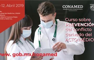 Descripción del contenido del curso, fechas y dos médicos.