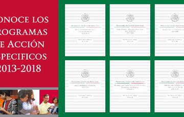 Caratula del Programa de Acción Específico 2013-2018