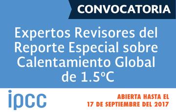 Convocatoria IPCC Calentamiento Global