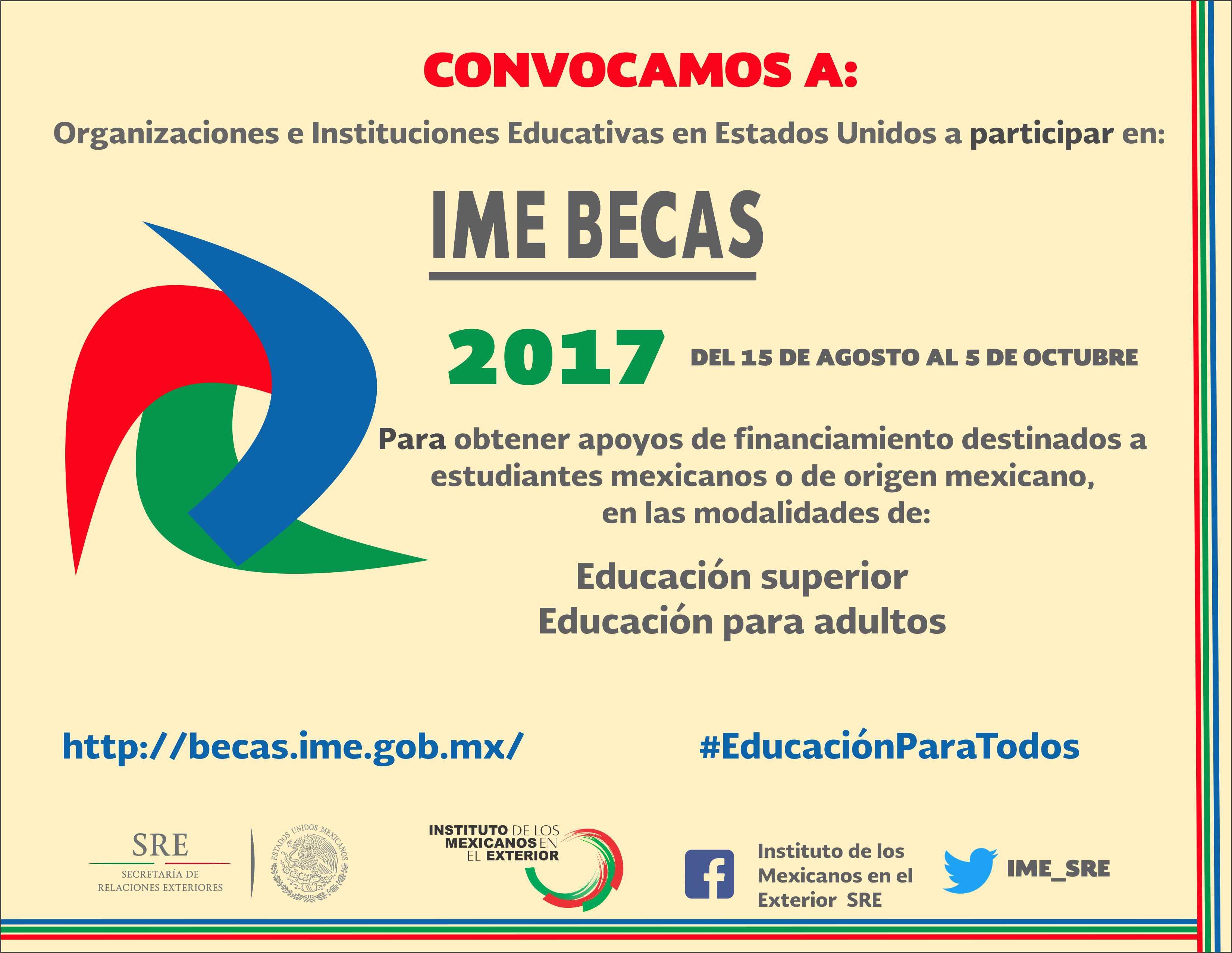 Convocatoria ime becas instituto de los mexicanos en el - Instituto de los mexicanos en el exterior ...