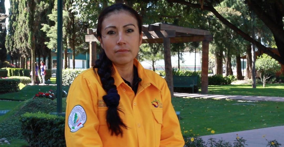 Consuelo, primera combatiente que apoya en otro país