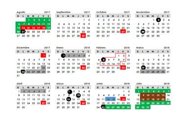 Calendario 20017.Calendario Escolar 2017 2018 Autoridad Educativa Federal