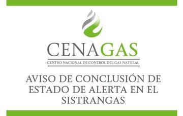 AVISO DE CONCLUSIÓN DE ESTADO DE ALERTA EN EL SISTRANGAS