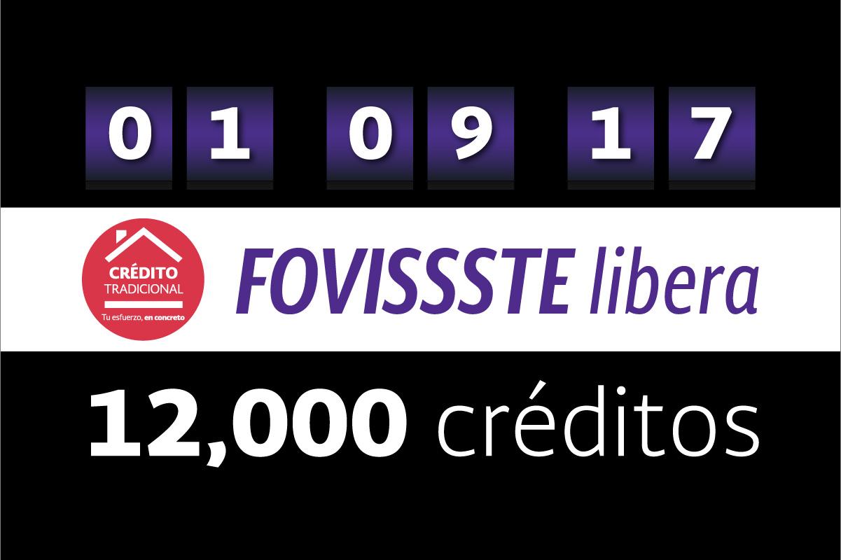 12 mil créditos tradicionales se liberaron este 1° de septiembre
