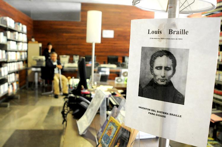 Sala de Lengua de Señas y de Braille de la Biblioteca Vasconcelos.