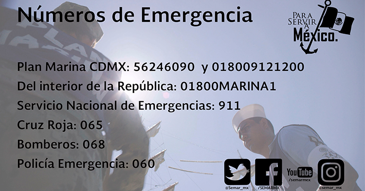 Números de contactos en caso de emergencia